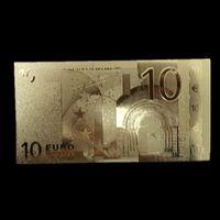Золотая банкнота 10 евро. распродажа