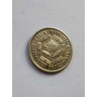 Южная Африка  6 пенсов  1934 г.  (Георг V)