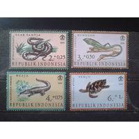 Индонезия 1966 Рептилии** Полная серия