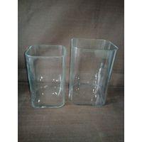 Две большие квадратные вазы одним лотом Нёман для декора