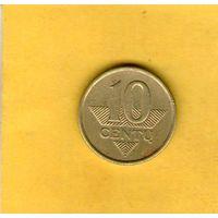 Литва 10 центов  2007