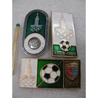Значки. Олимпиада 1980. Футбол. цена за 1 шт.