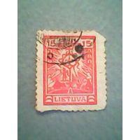 Литва.Стилизованный крест. 1923г. ;гашеная