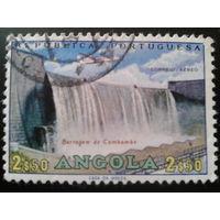 Ангола 1965 колония Португалии плотина ГЭС, самолет