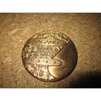 Медаль участника Олимпиады . Нагано 1988