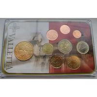 Полный набор евромонет. Мальта 2008г. Упаковка тираж 50 000 экз.