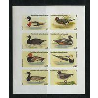 Экваториальная Гвинея, 1972г. утки, 8шт. 1 малый лист