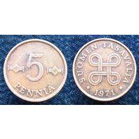 W: Финляндия 5 пенни 1971 (276)