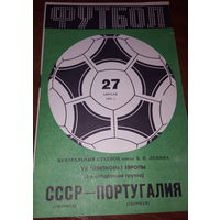 Программка СССР-Португалия 27.04.1983