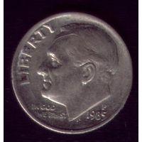 1 дайм 1985 год США Р