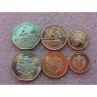 Гайана. набор 3 монеты 1, 5, 10, долларов 2011 - 2012 год