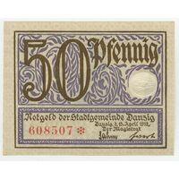 Данциг (Danzig) P11a 50 Pfennig UNC