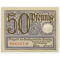 Данциг (Danzig) P11a 50 Pfennig