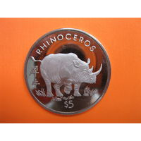 Либерия 5 долларов 1997 год.