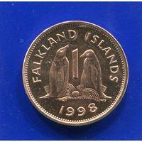 Фолклендские острова 1 пенни 1998 UNC