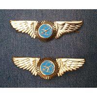 Знак на тулью (кокарда) Белавиа, нагрудный знак Беларонавигация
