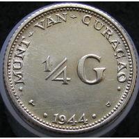 Кюрасао 1/4 гульдена 1944 Ag (420)