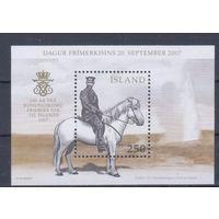 [1974] Исландия 2007. Фауна.Лошадь.Всадник. БЛОК MNH