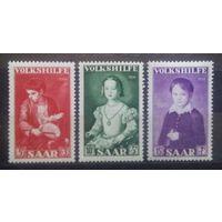 Благотворительные марки (Картины), Германия (Саар), 1954 год, 3 марки