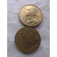 Франция 10 сантимов 1980г. распродажа