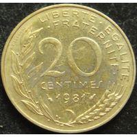 147:  20 сантимов 1981 Франция KM# 930 0