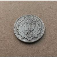 Австро-Венгрия, 10 геллеров 1908 г.