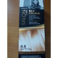 Стойкая крем-краска для волос Шелковое окрашивание, тон 9.8. Жемчужный блонд