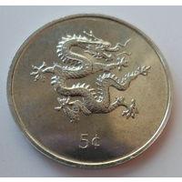 "Либерия 5 центов 2000 ""Дракон"""