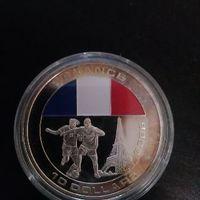 UC#240 10 долларов Либерия 2005 г Футбольный ЧМ