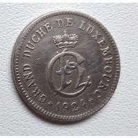 Люксембург 10 сантимов, 1924 6-3-12