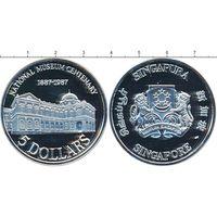 Сингапур 5 долларов 1987 100 лет Национальному музею UNC