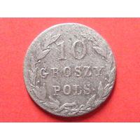 10 грошей pols 1821 IB биллон