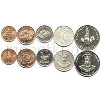 Тонга 5 монет 1996-2002 годов. FAO (VF)
