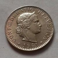 20 раппен, Швейцария 1961 г.