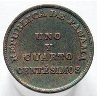 Панама 1 1/4 сентесимо 1940 НЕЧАСТАЯ (2-129)