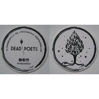 Подставка под пиво бара Dead Poets  / Россия/.