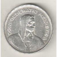 Швейцария 5 франк 1954