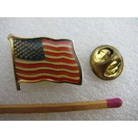 Знак-фрачник. Флаг США. тяжёлый, цанга.