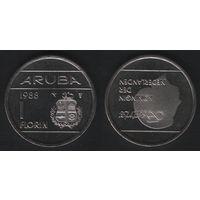 Аруба _km5 1 флорин 1988 год (u) ед.год (b06)