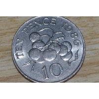 Гернси 10 пенсов 1986