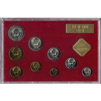 Годовой набор 1978, СССР, ЛМД. Красный пластик, оригинальная картонная упаковка