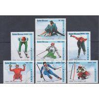[169] Гвинея Биссау 1988.Спорт.Зимняя Олимпиада.  Гашеная серия.