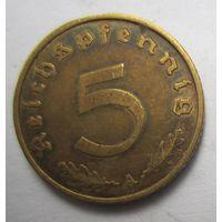 Третий рейх. 5 рейхспфеннигов 1937 A.   2-138