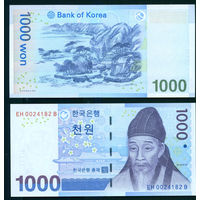 Южная Корея 1000 вон (2007) UNC