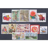 [596] Китай КНР. 12 гашеных марок.