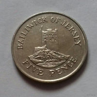 5 пенсов, Джерси 1985 г.