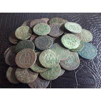 Деньга. Одним лотом более 40 монет РИ.