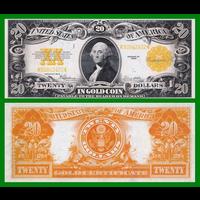[КОПИЯ] США 20 долларов 1922г. Золотой Сертификат.