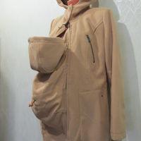 Утеплённое (регулируемое по объёму) пальто для беременных - со вставкой для малыша
