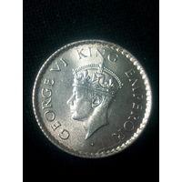 1/4 рупии 1940 года Колониальная ИНДИЯ Великобритания